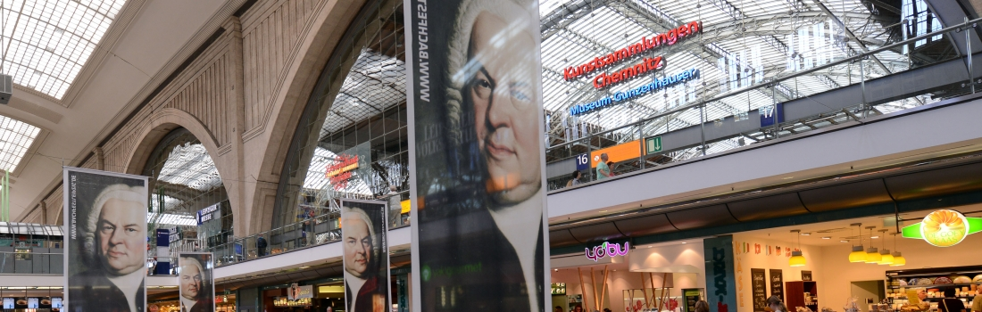 Bach at Leipzig's main station
