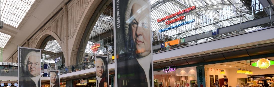 Bach im Leipziger Hauptbahnhof